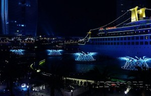 shekou sea world night scene