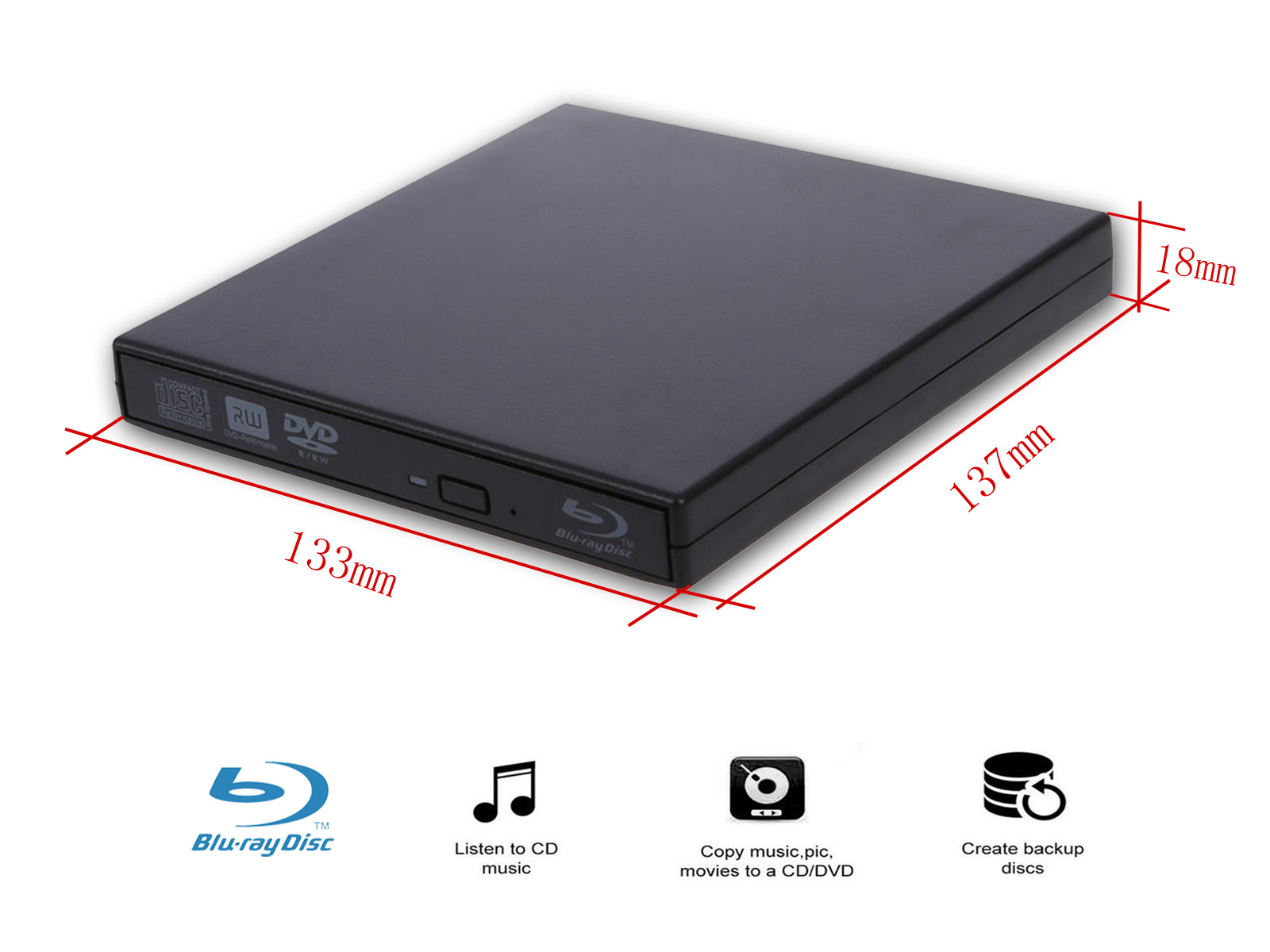USB Blu-Ray reader