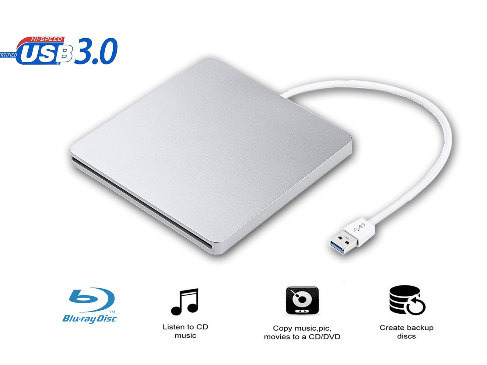 USB3.0 Slot czytnik Blu-Ray